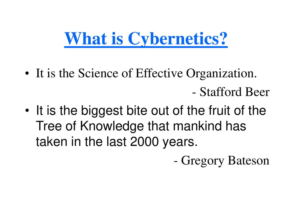 What is cybernetics