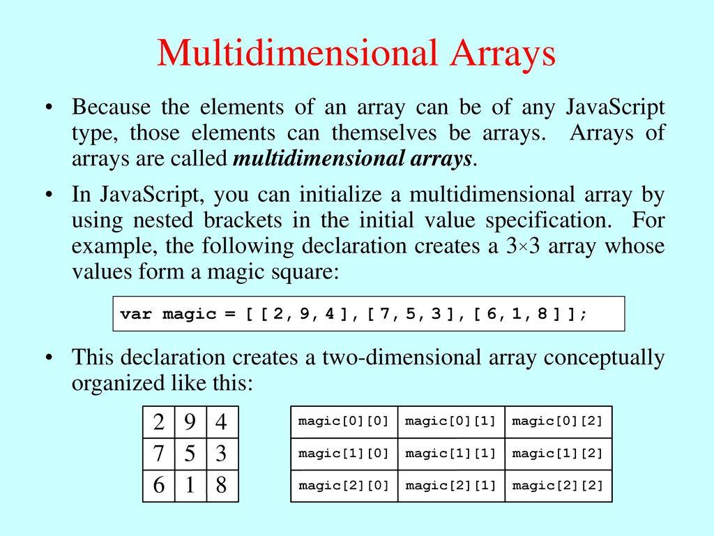 Multidimensional Arrays - ppt download