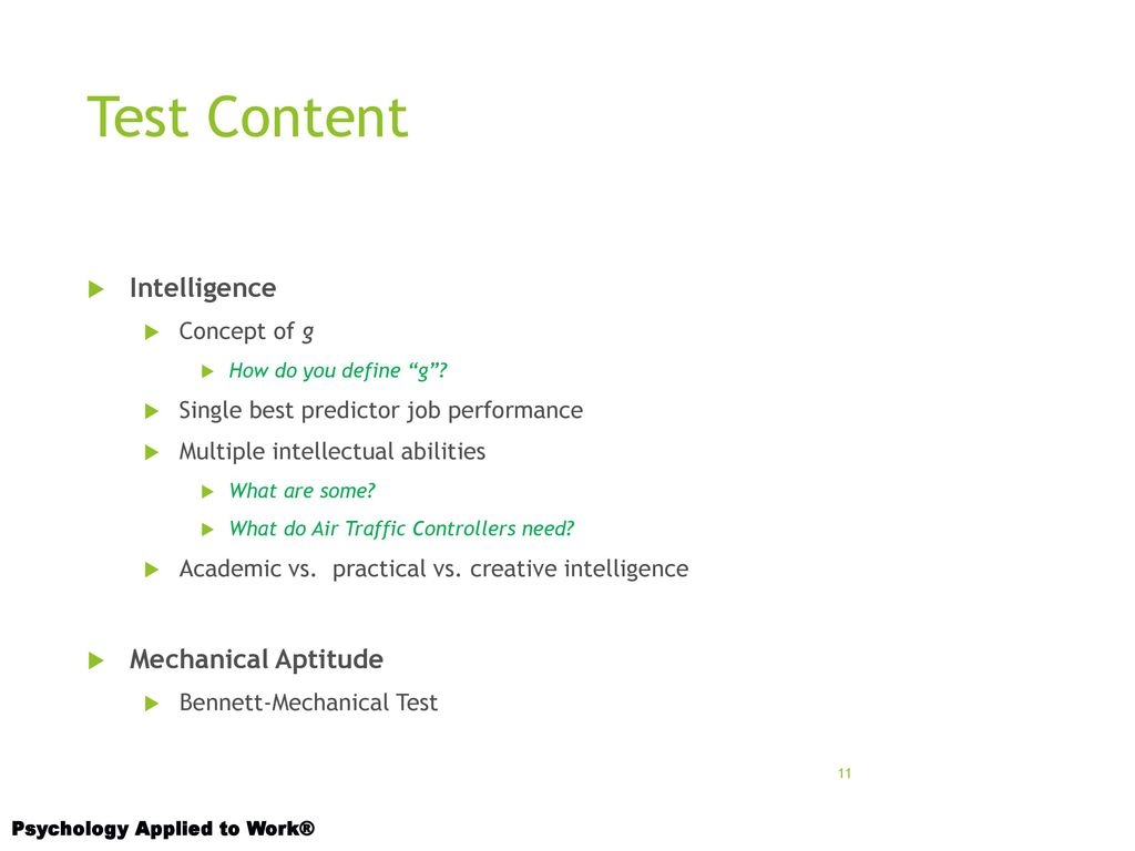 11 Test Content Intelligence Mechanical ...