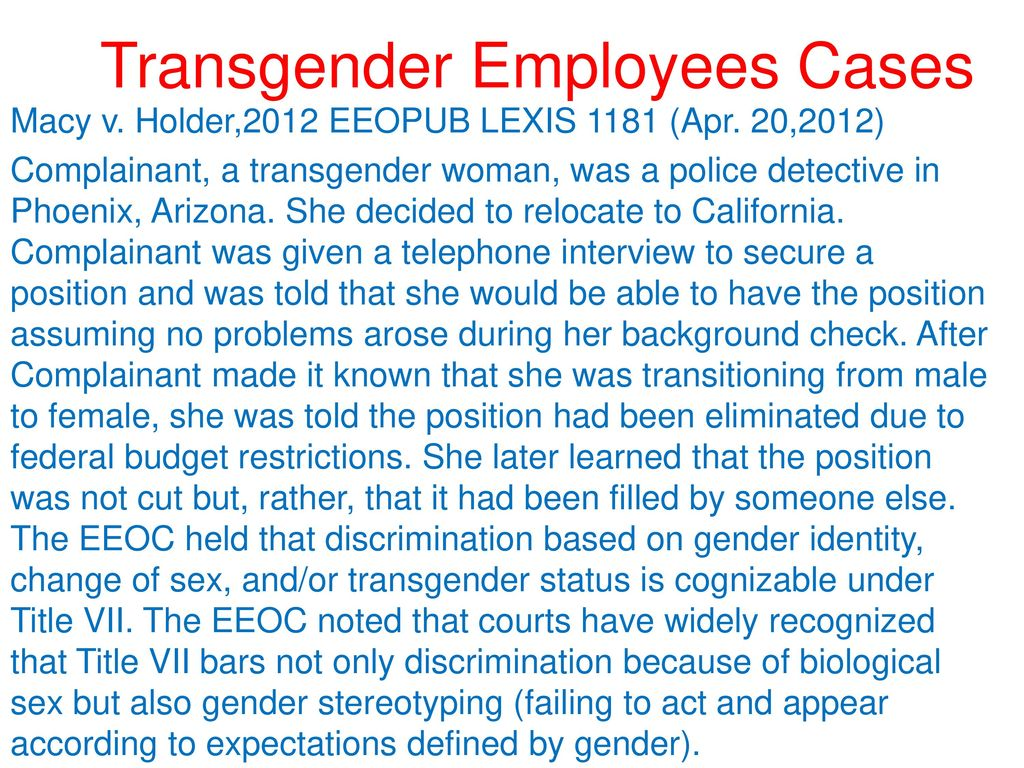 For the 48th annual naen conference ppt download transgender employees cases publicscrutiny Choice Image