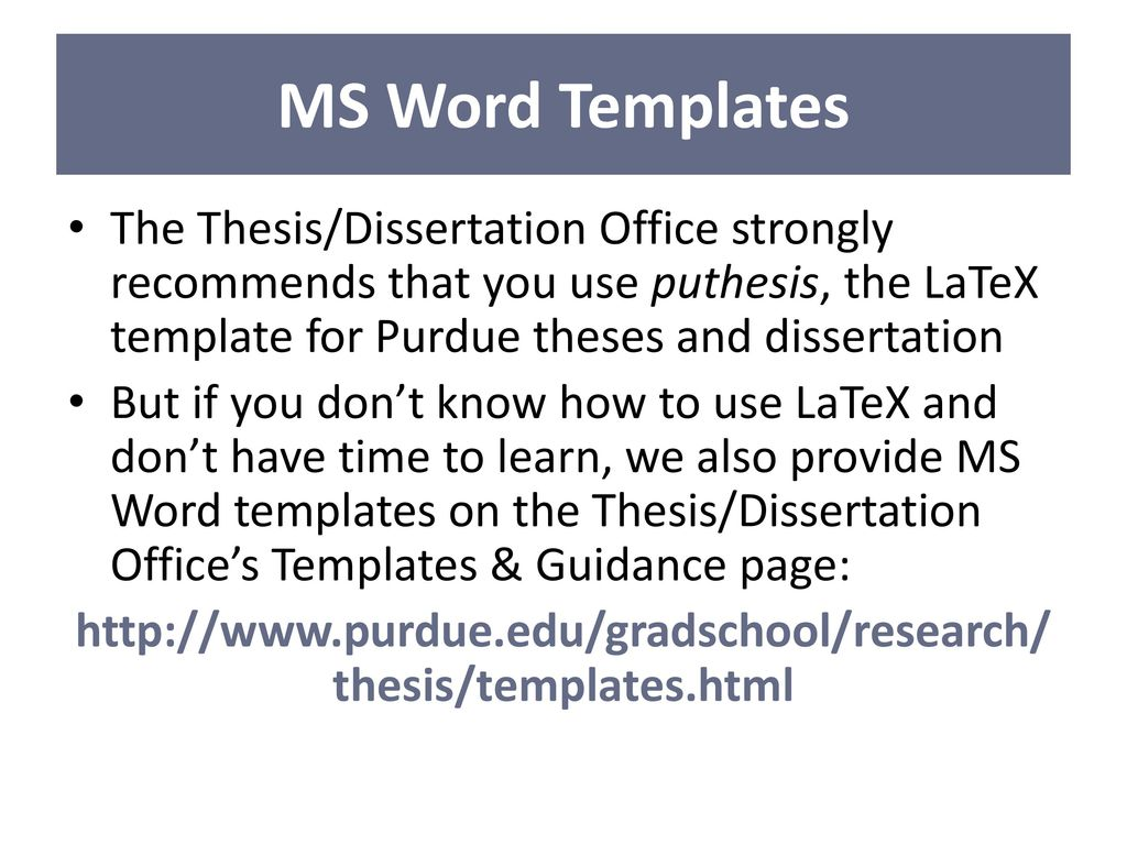 Purdue Phd Thesis Latex Purdue University Thesis Template