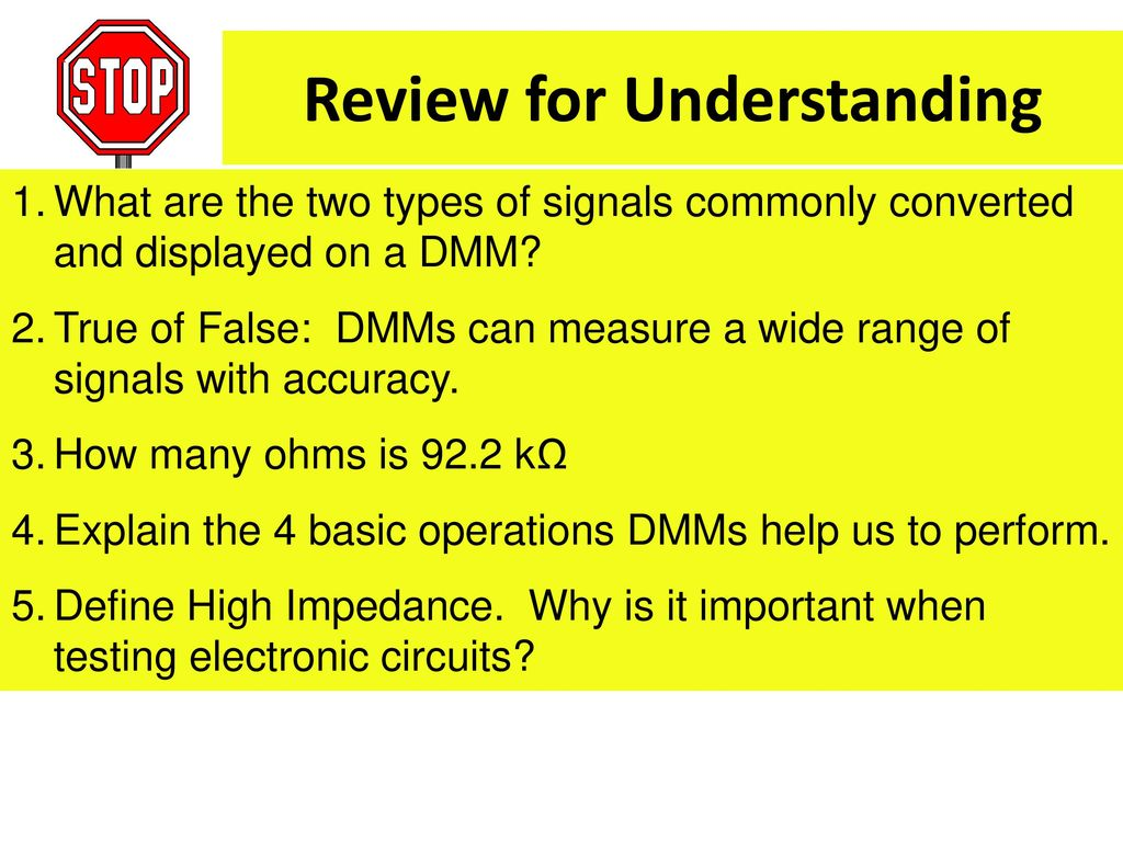 Digital Multimeter Introduction Ppt Download Define Parallel Circuit 5 Review For Understanding