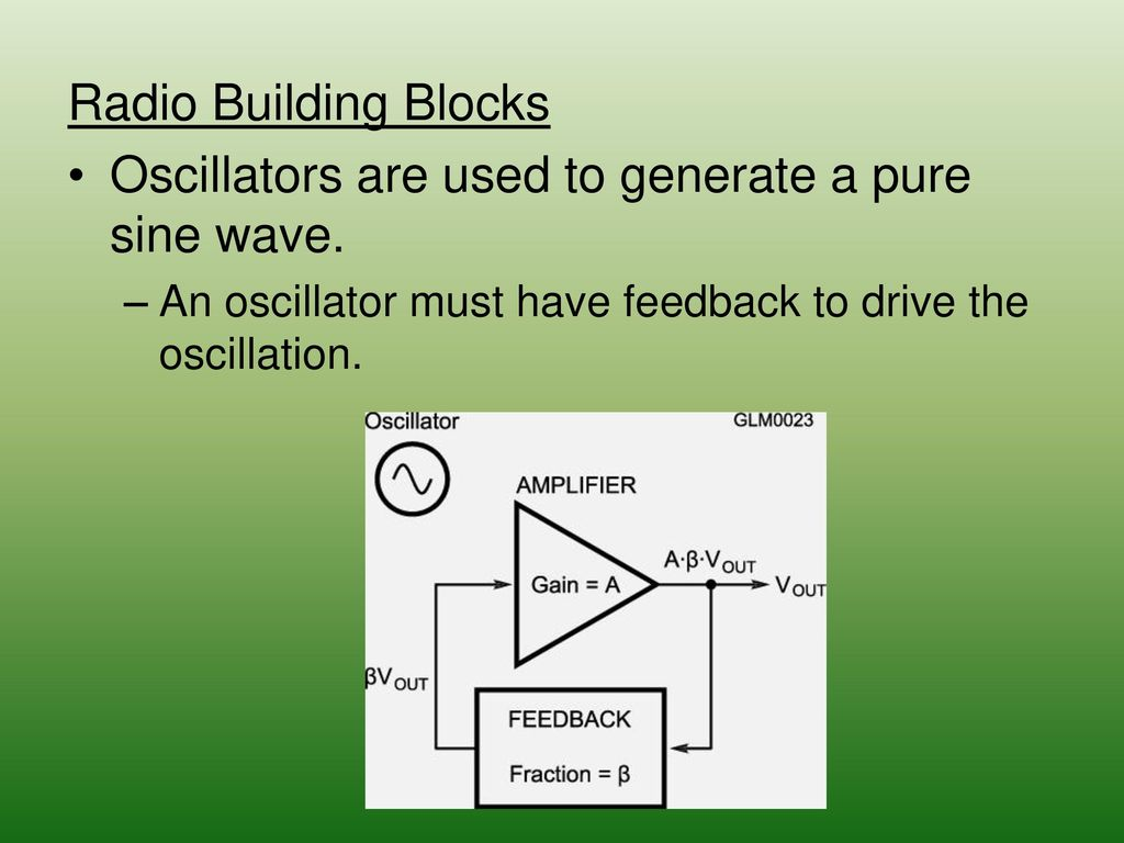 Chapter 5 Radio Signals And Equipment Ppt Download High Frequency Sine Wave Generator Signalprocessing Circuit Oscillators Are Used To Generate A Pure