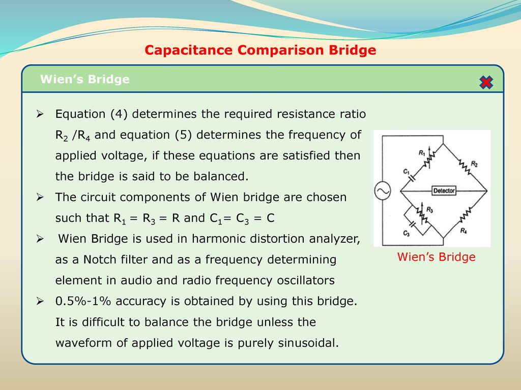 Resistance Inductance Capacitance Measurements Ppt Download Variable Voltage Frequency Wien Audio Bridge Oscillator Circuit Comparison