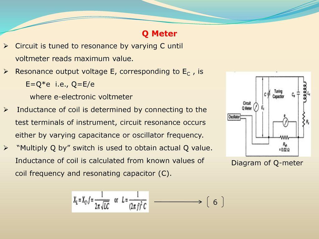 Circuit Diagram Of Q Meter Wiring Diagrams Schematics Pin Esr Low Resistance Test Diagramjpg On Pinterest Inductance Capacitance Measurements Ppt Download Rh Slideplayer Com At 80