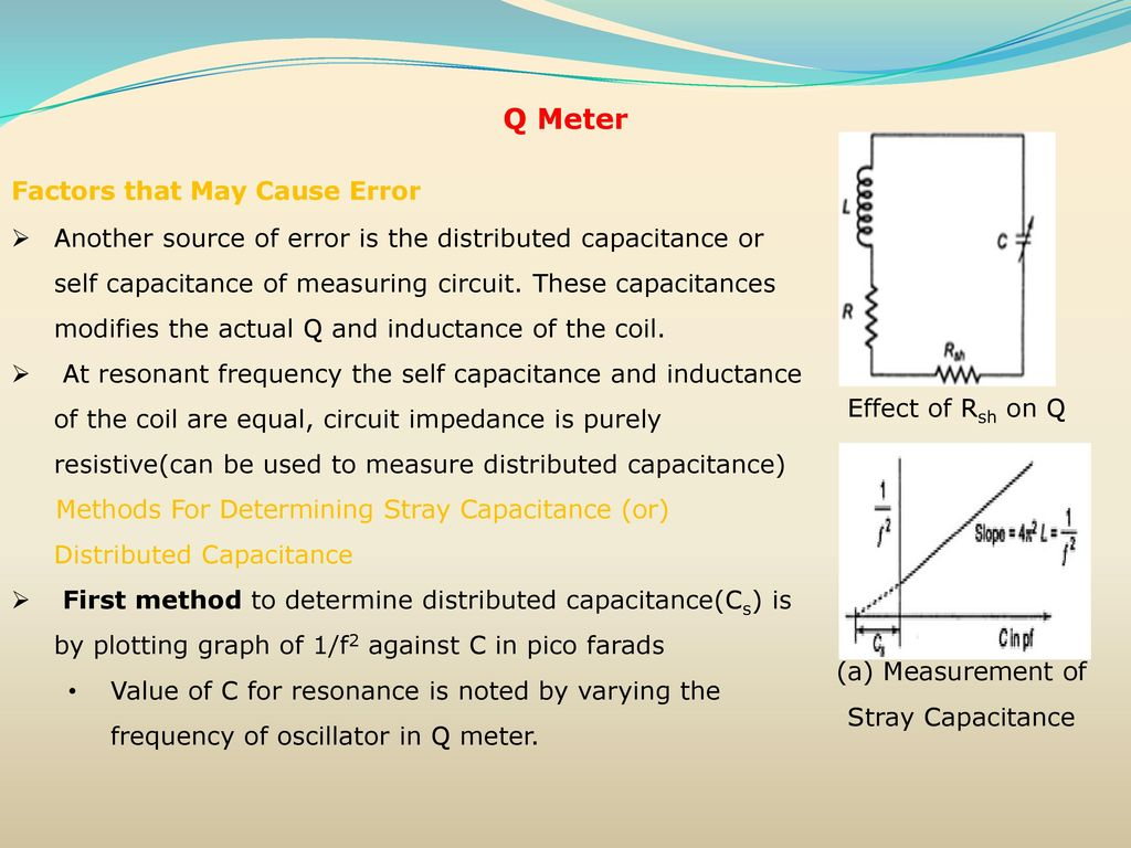 Resistance Inductance Capacitance Measurements Ppt Download Lc Meter Circuit Coil Capacitor A Measurement Of Stray