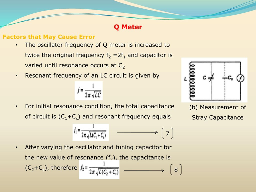 Resistance Inductance Capacitance Measurements Ppt Download Lc Meter Circuit Coil Capacitor B Measurement Of Stray