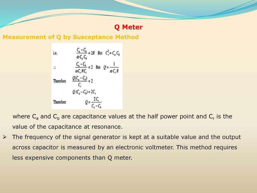 Resistance, Inductance Capacitance Measurements - ppt download