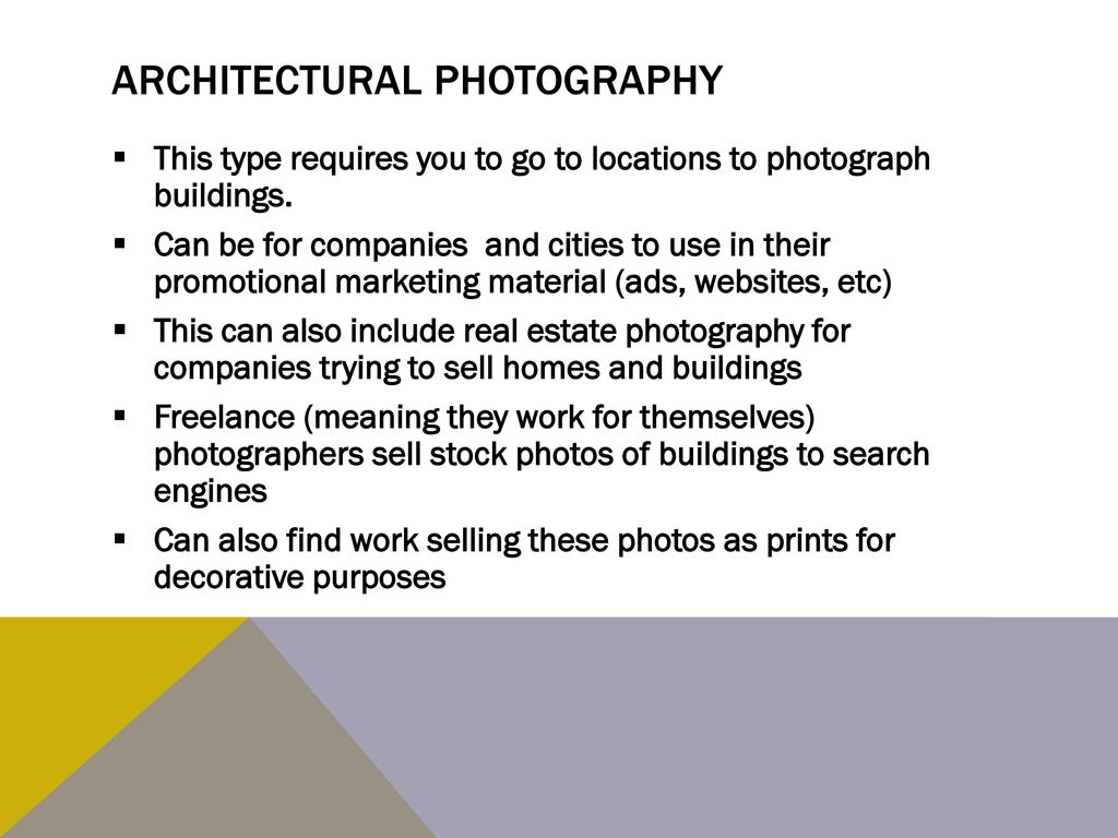 Types of Commercial Photography - ppt download