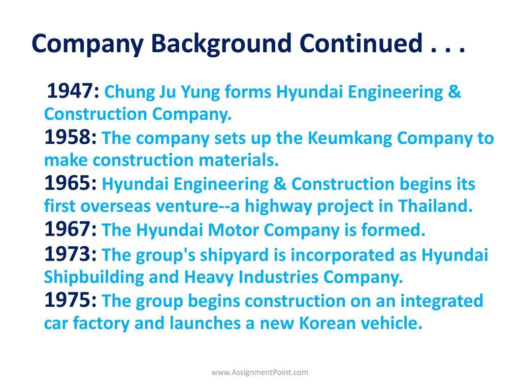Business Plan on Hyundai Motors - ppt download