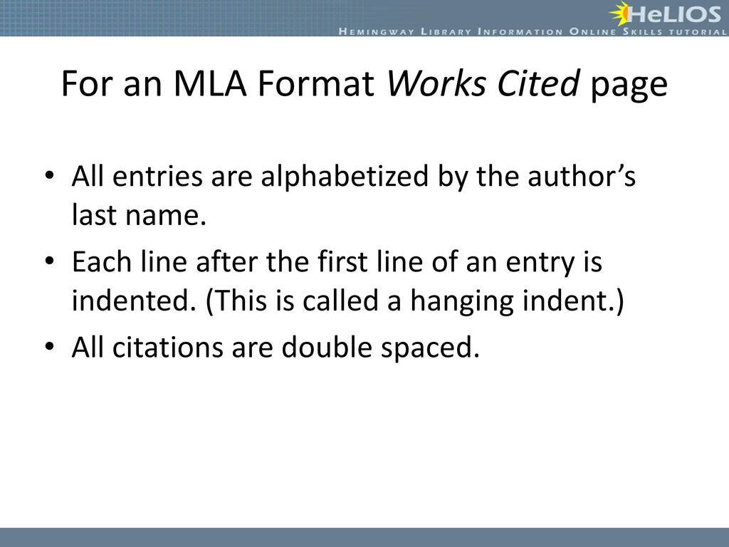 creating citations objective students will understand how to create