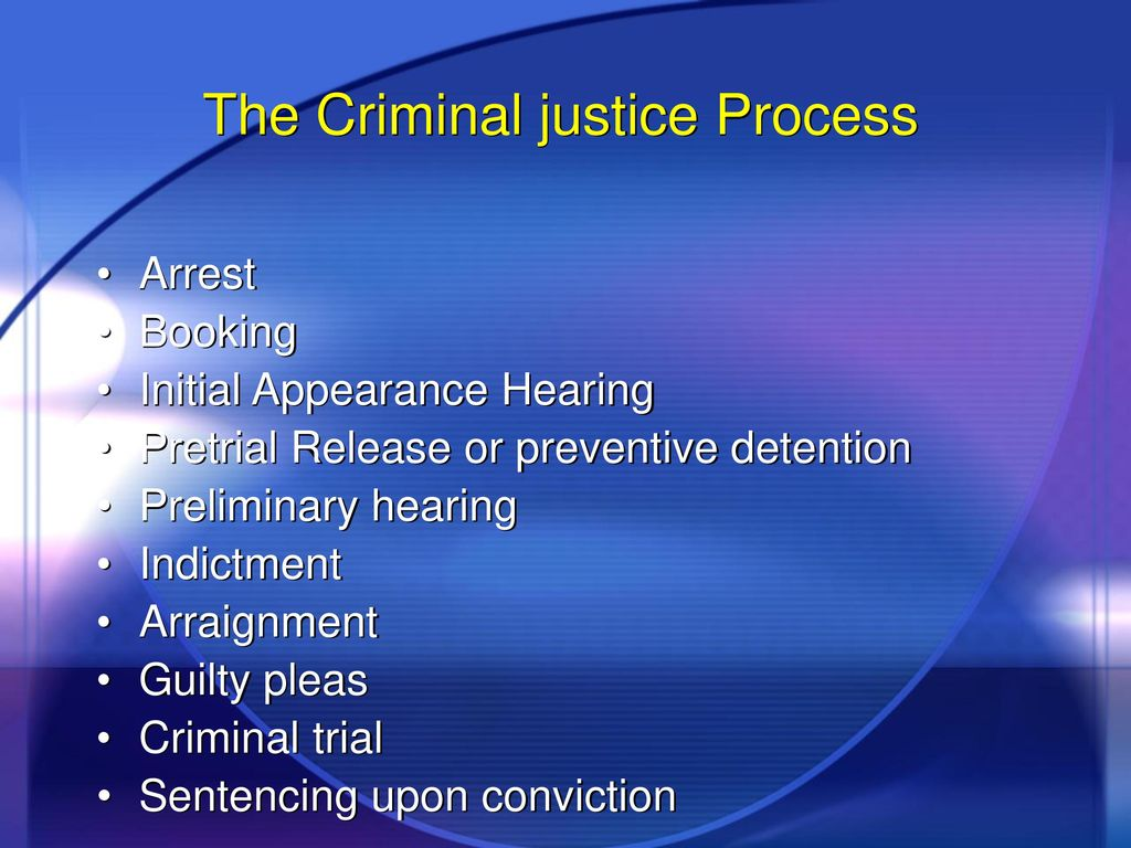 the criminal justice system: an overview - ppt download