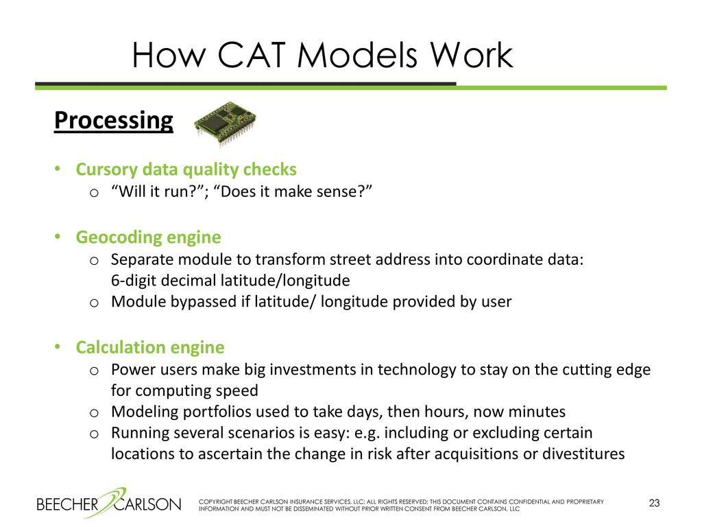 Cat Loss Modeling And Analytics Ppt Download Once You Have Ascertained There Is No Power Running Install The 23 How Models Work Processing Cursory Data Quality Checks Will It Run