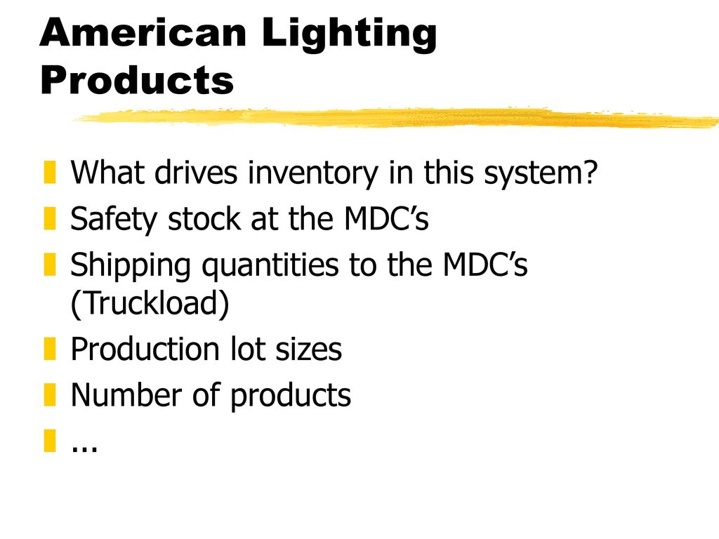 american lighting products ppt download