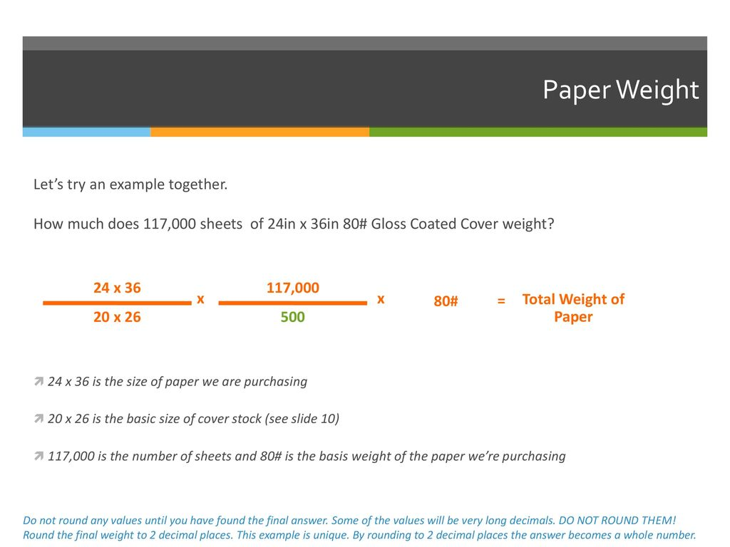 df13af54cb3 Using basic size and basis weight to calculate the weight of paper ...