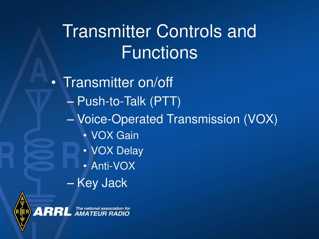 Technician License Course Module Nine Operating Station Equipment Basic Vox Circuit Controls Ptt Transmitter And Functions