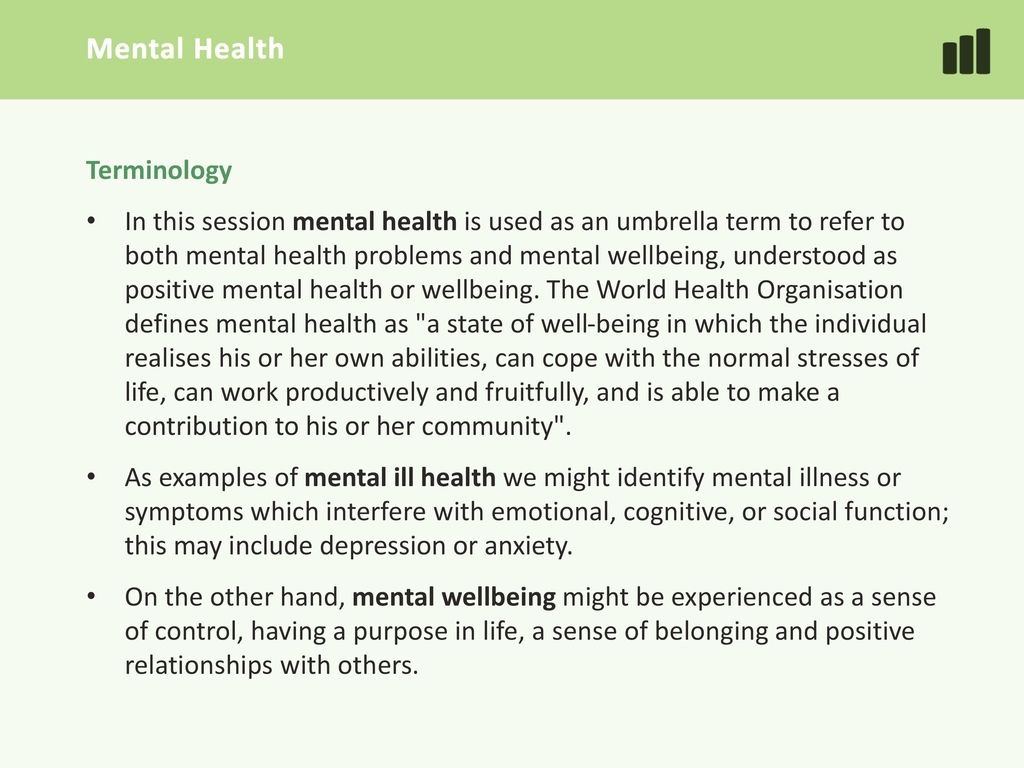 3 Mental Health Terminology