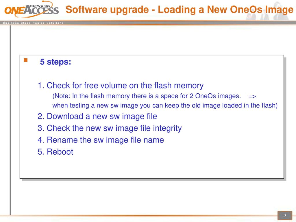 1 1 2 OneOs Downloading Software Upgrade - ppt download