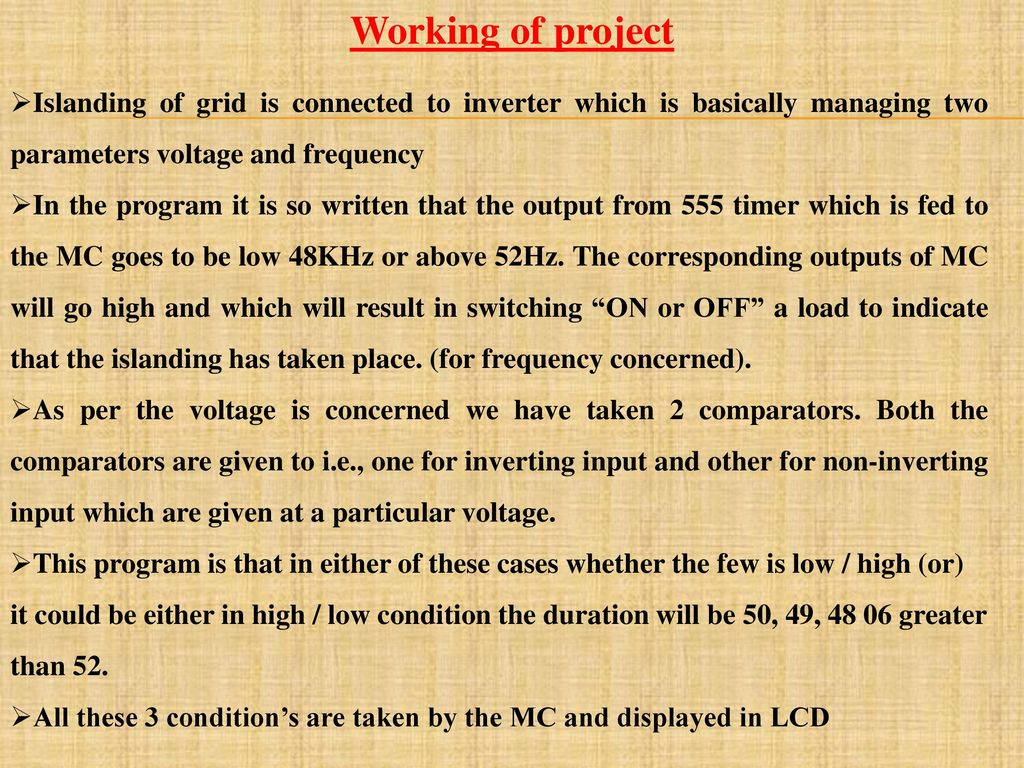 Frequency And Pulse Width Measurement Using Microcontroller At89c51 Project Title Developing Islanding Arrangement Automatically For 21 Working