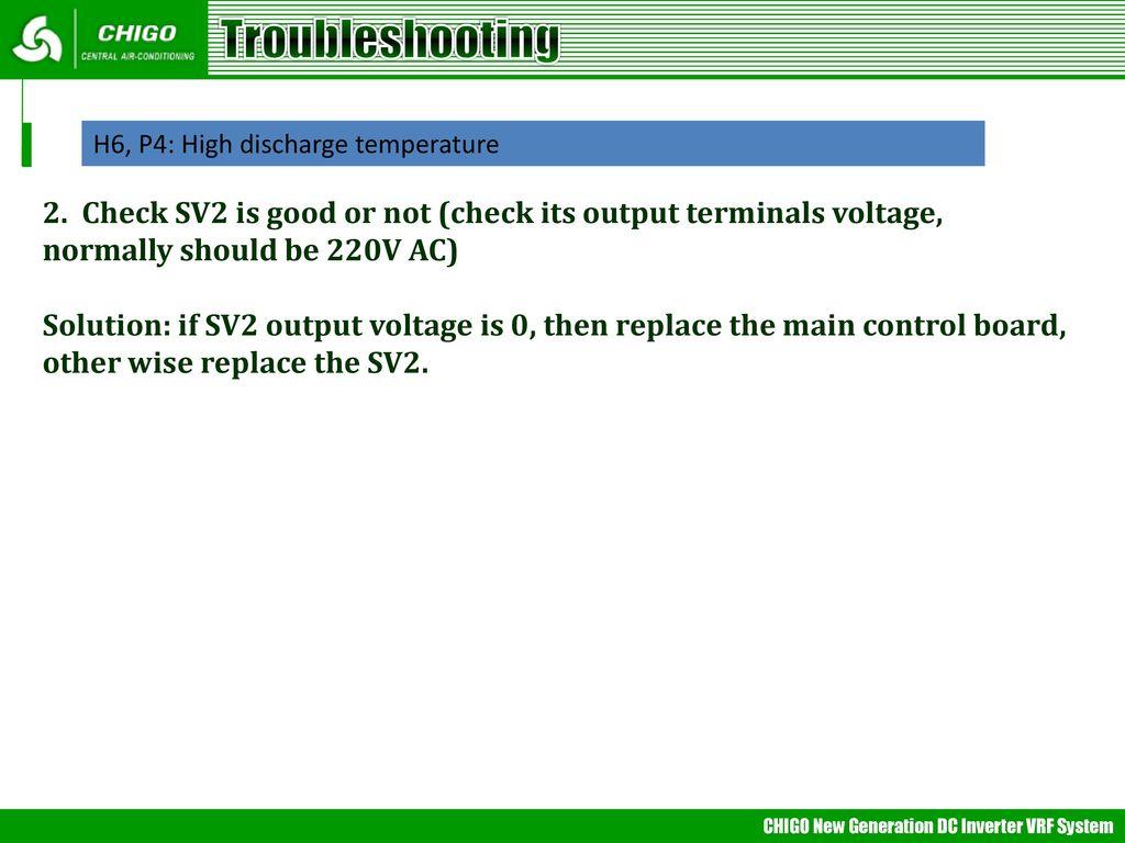 VRF Trouble Shooting 采用midea通用PPT模版, 参考《公司简介