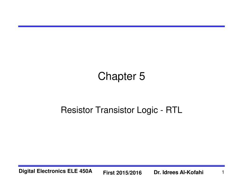 resistor transistor logic rtl ppt download rh slideplayer com