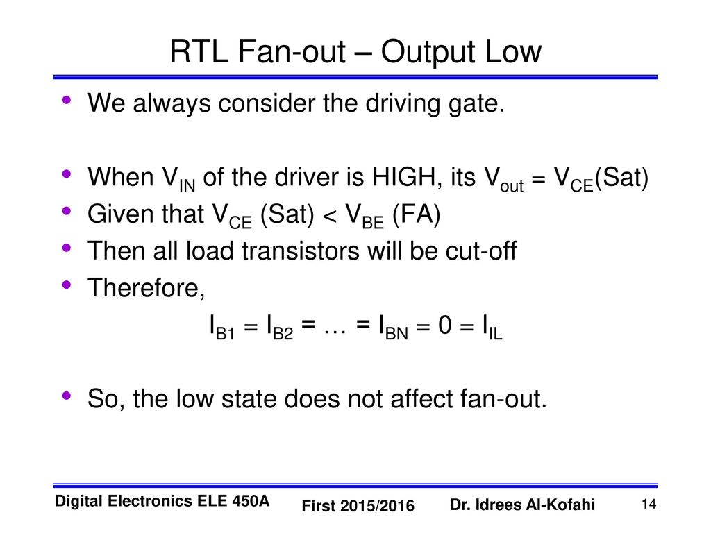 Resistor Transistor Logic Rtl Ppt Download 10 Second Fan On Delay Time By Out Output Low