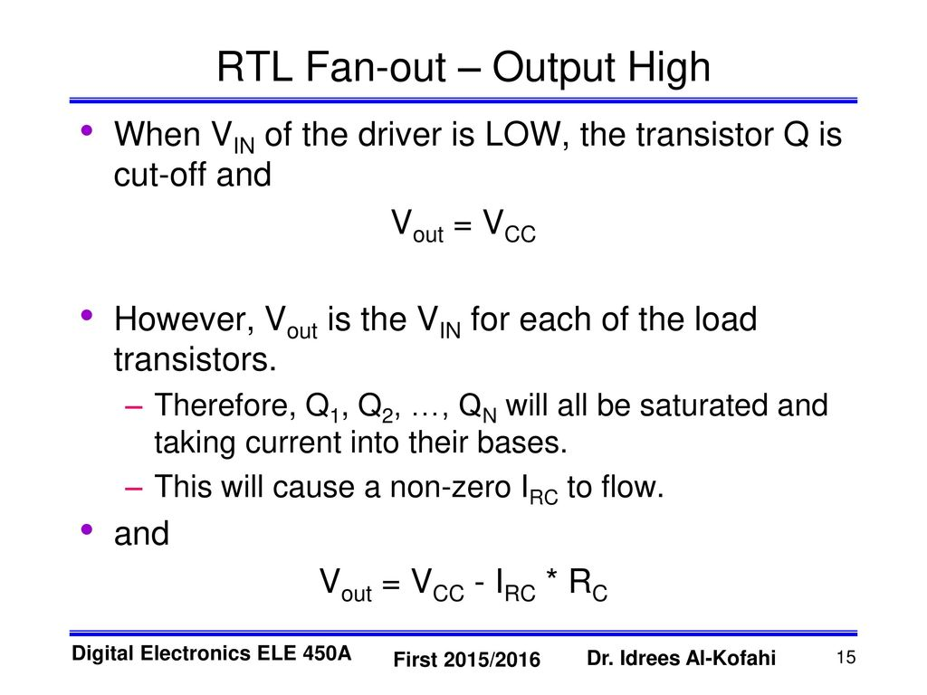 Resistor Transistor Logic Rtl Ppt Download 10 Second Fan On Delay Time By Out Output High