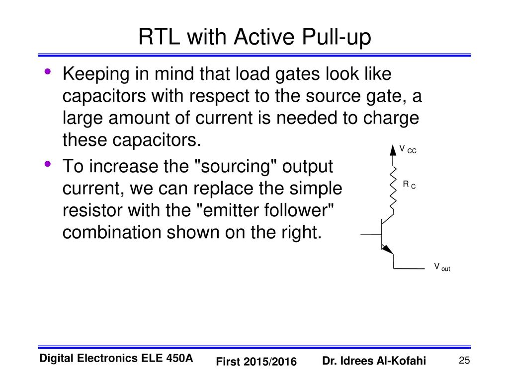 Resistor Transistor Logic Rtl Ppt Download And An Or Gate Is Made By Adding A Not To Nor With Active Pull Up
