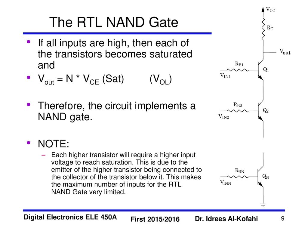 Nand Gate Circuit Diagram Rtl Trusted Wiring Diagrams Resistor Transistor Logic Ppt Download Nor Symbol