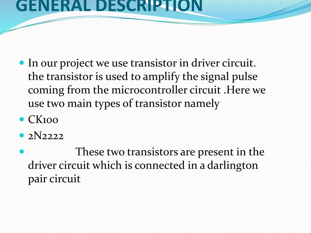 Double Input Z Source Dc Converter Ppt Download Pulse Relay Dirver Circuit Diagram Using Transistors 39 General Description In Our Project We Use Transistor Driver