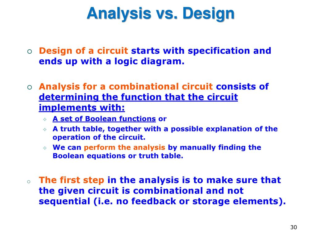 Eng2410 Digital Design Cont Combinational Logic Circuits Ppt Diagram Circuit Of A Starts With Specification And Ends Up