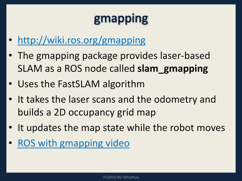 Gmapping Output