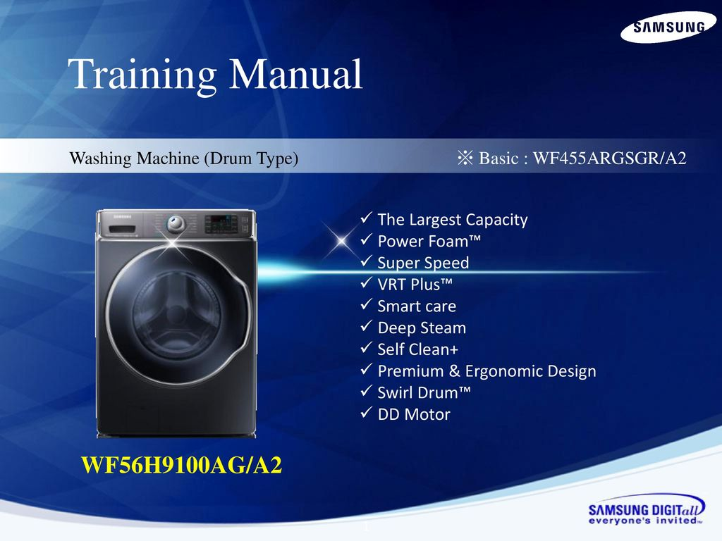 Training Manual Wf56h9100ag A2 Ppt Download