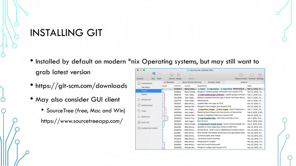 Basics of GIT for developers and system administrators - ppt