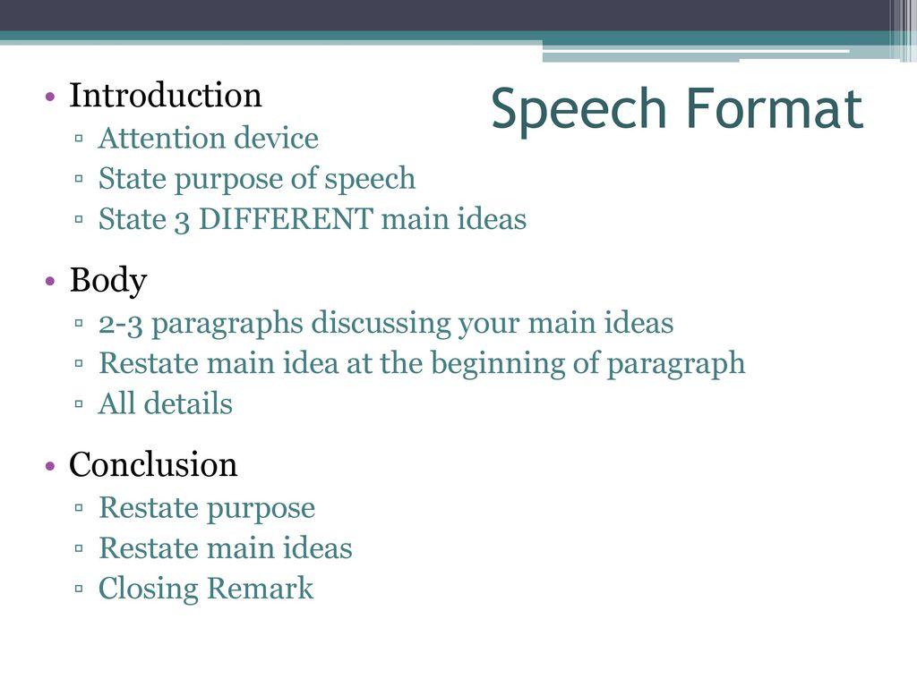 speech beginning ideas