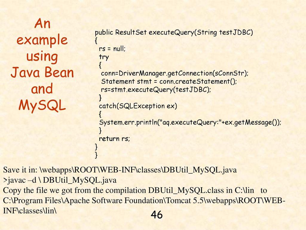 Chapter 14  JDBC, Java Server Pages, and MySQL - ppt download