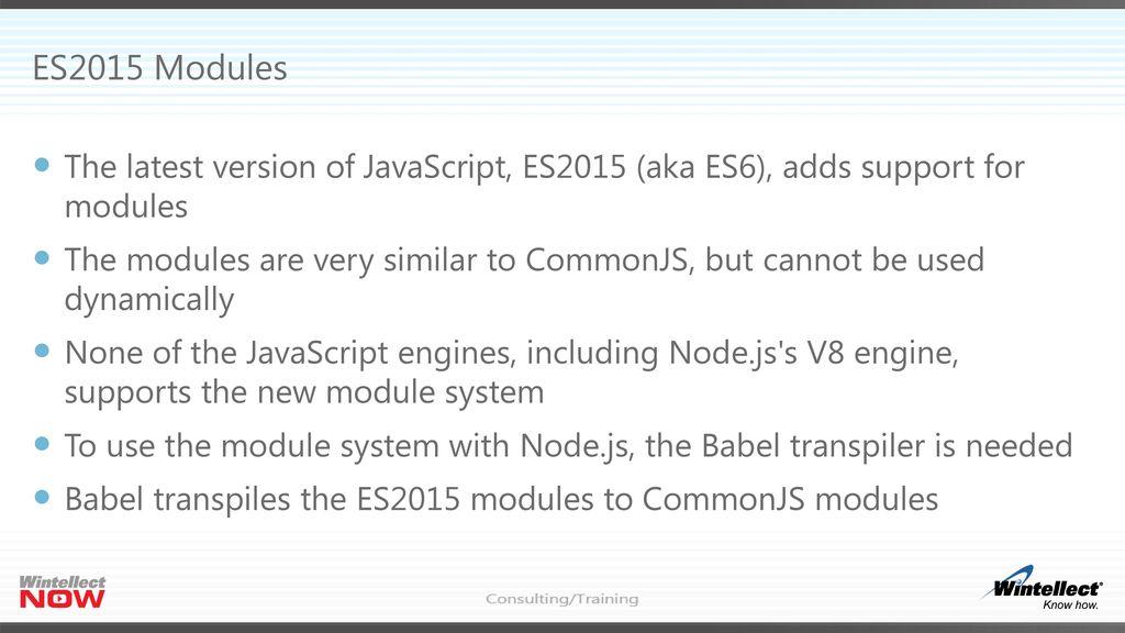 Node js Modules Header Mastering Node js, Part 2 Eric W