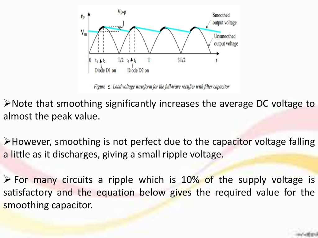 Center tap Full-Wave Rectifier  - ppt download