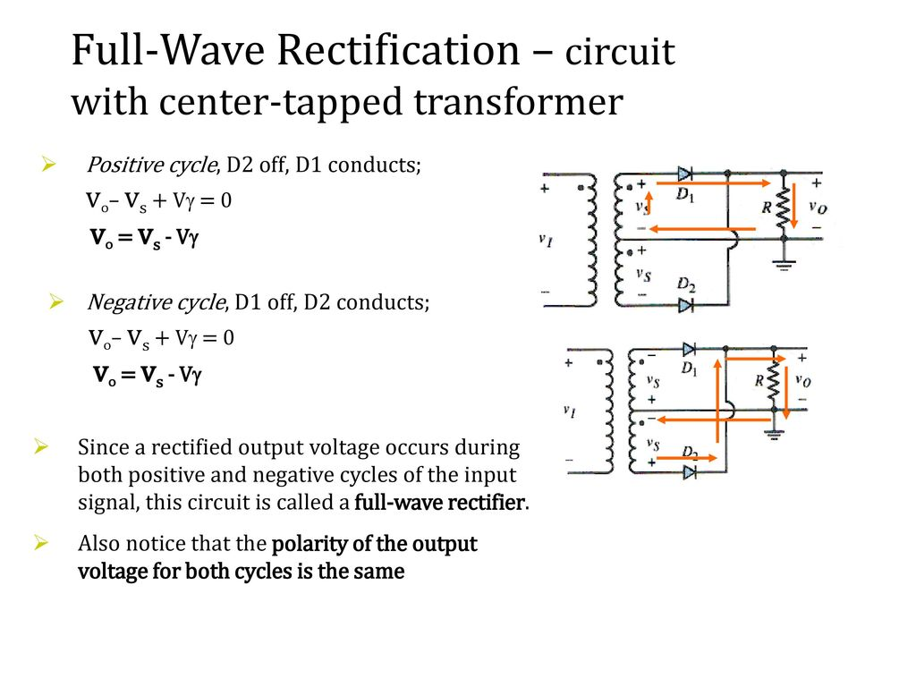 Recall Lecture 7 Voltage Regulator Using Zener Diode Ppt Download Full Wave Rectifier Circuit 4 Rectification