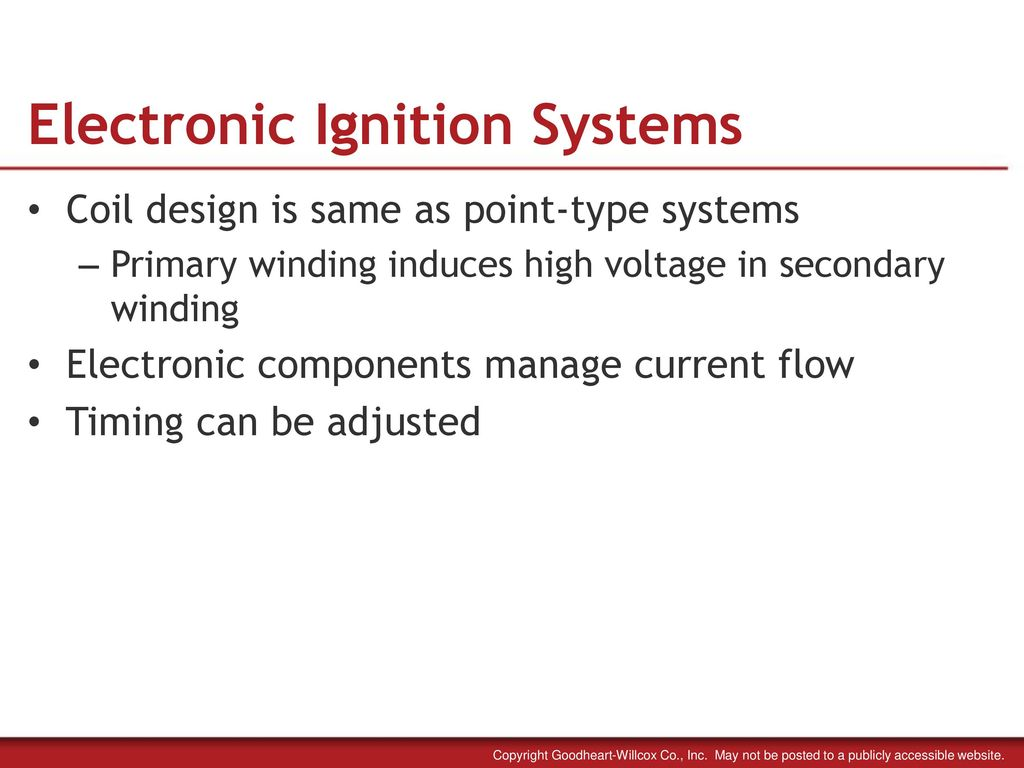 23 Electronic Ignition Systems
