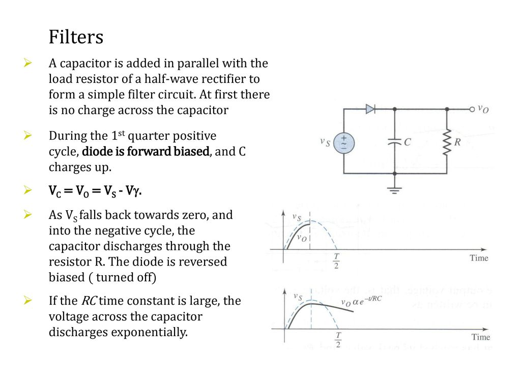 Recall Lecture 7 Rectification Transforming Ac Signal Into A R C Time Constant Circuit Diagram 13 Filters