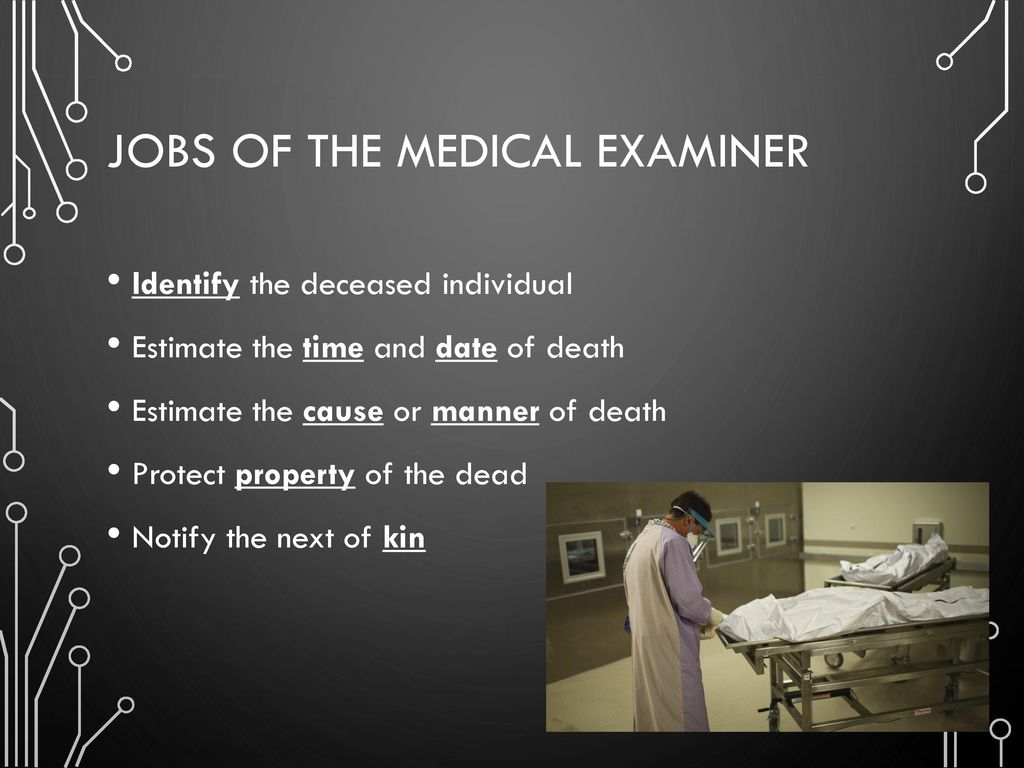 Jobs Of The Medical Examiner
