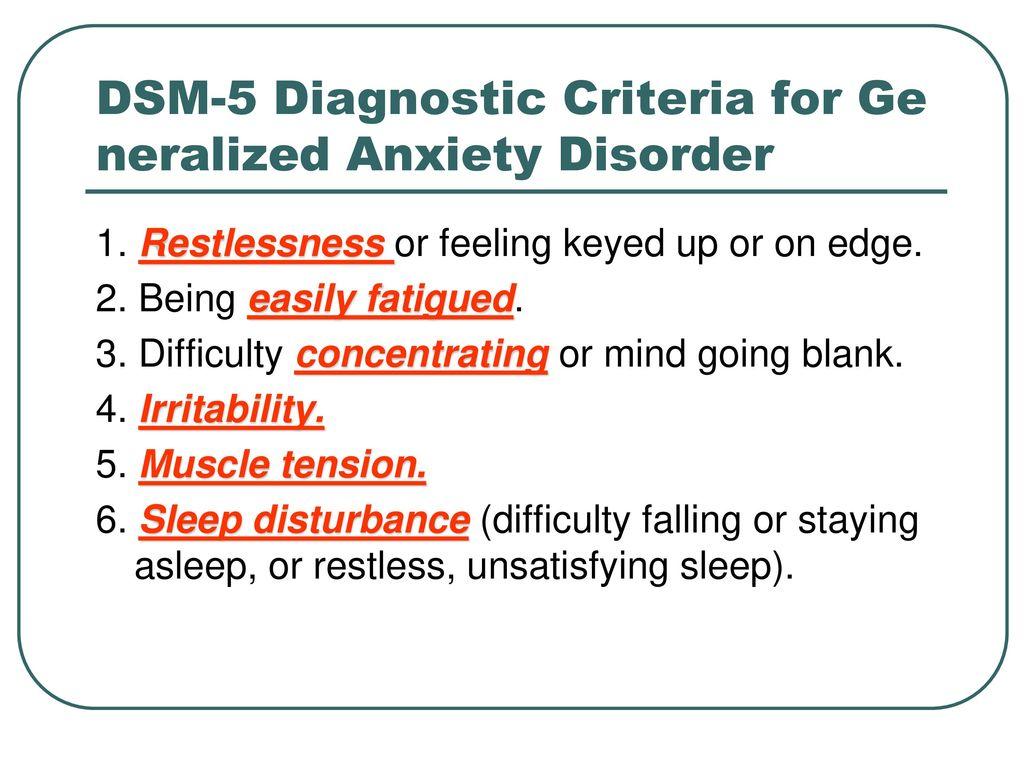 generalized anxiety disorder dsm - HD1024×768