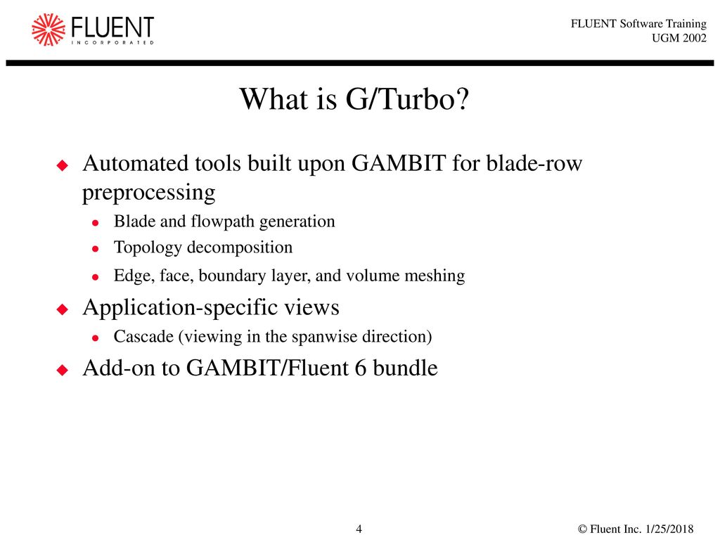 What is G/Turbo Automated tools built upon GAMBIT for blade-row  preprocessing.