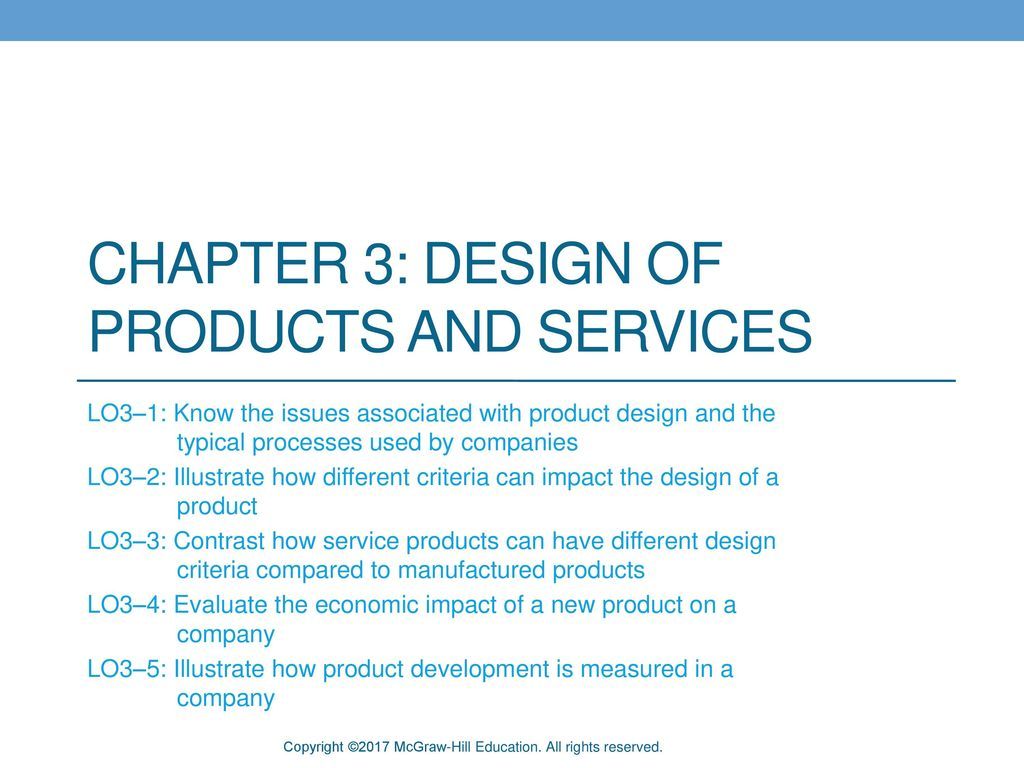 Chapter 3: Design of Products and Services - ppt download