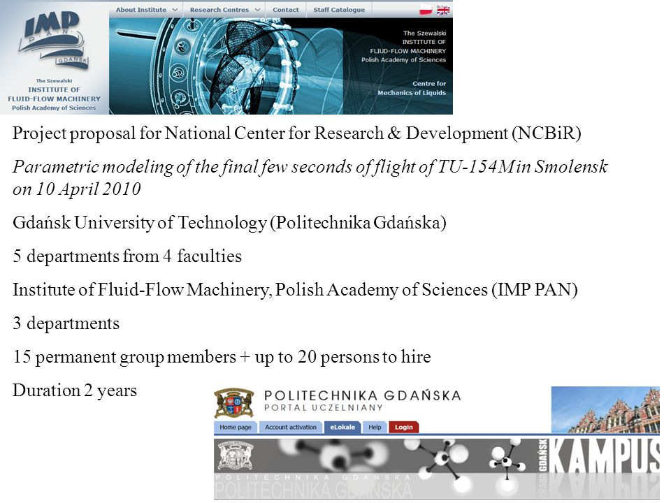 Project proposal for National Center for Research & Development (NCBiR)