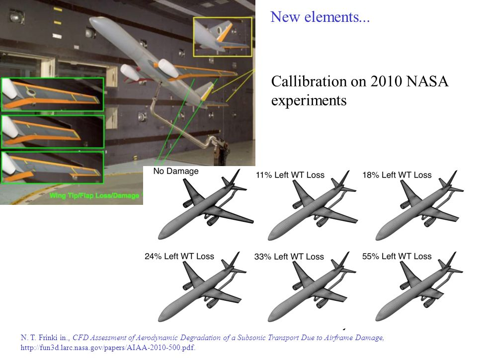 Callibration on 2010 NASA experiments