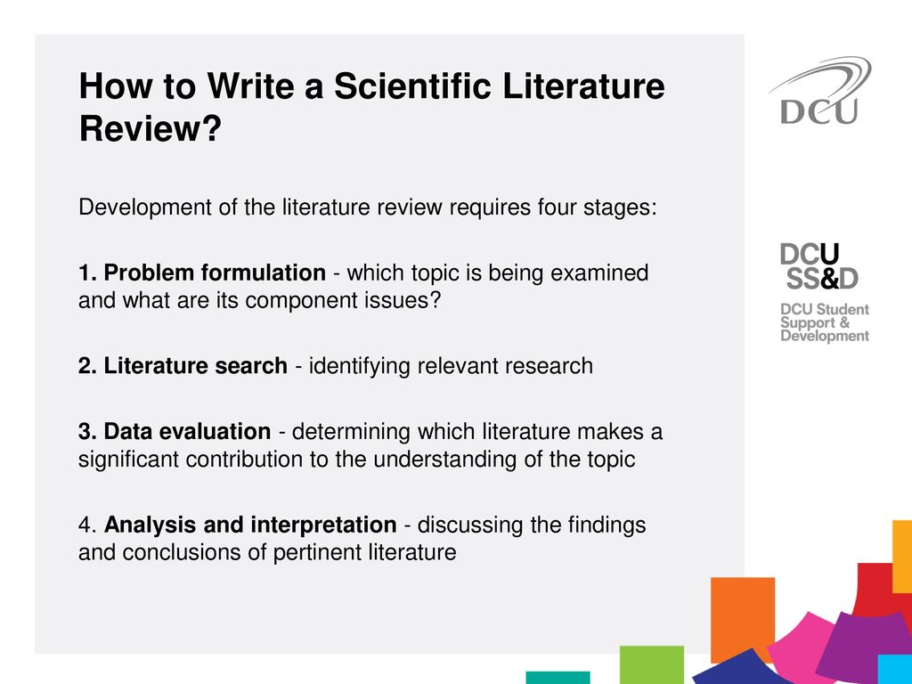 how to write literature review for research