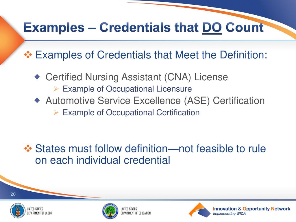 Credentials Definition Example