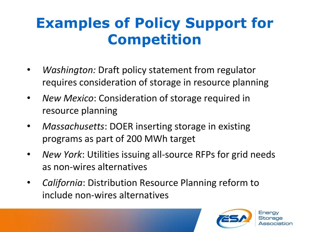 State Policies to Fully Charge Advanced Energy Storage - ppt download